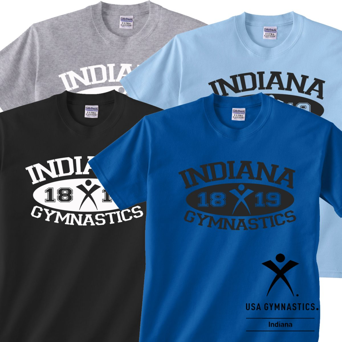 Indiana USA Gymnastics Athletic Tee